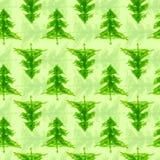 脏的chrismas树无缝的样式 免版税图库摄影