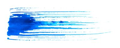 脏蓝色的画笔 图库摄影