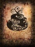 脏coffe的杯子 免版税库存照片