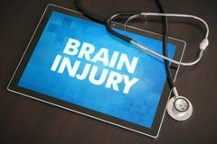 脑伤(神经混乱)诊断医疗概念o 免版税库存图片