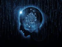 头脑原子 免版税库存图片