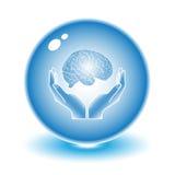脑子保护 免版税库存图片