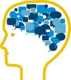 脑子向量语音 库存图片