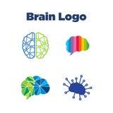 脑子商标模板 向量例证