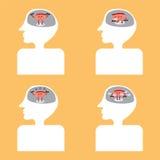 脑子在身体里面的动画片锻炼 免版税库存图片