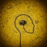脑子机制 免版税库存图片