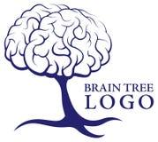 脑子树商标 免版税库存照片
