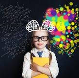 脑子猛冲和创造性教育概念 免版税库存照片