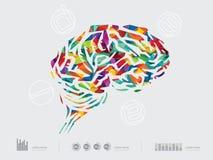 脑子的传染媒介例证 库存例证