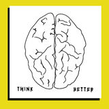 脑子的例证与文本的 免版税库存照片