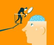 脑子研究 结束检查 测试 免版税图库摄影