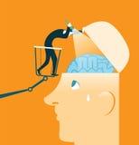 脑子研究 结束检查 测试 免版税库存图片