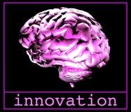 脑子紫色 图库摄影