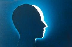 脑子老化和记忆损失 库存图片