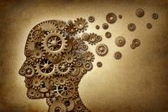 脑子老年痴呆问题 免版税库存照片