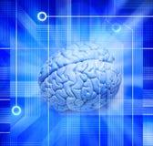 脑子计算机智能技术 免版税库存照片