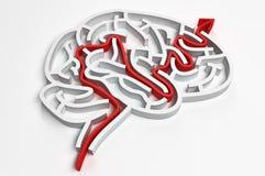脑子迷宫 库存例证