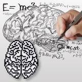 脑子配方算术科学符号 向量例证