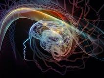 头脑的数字式范例 库存图片