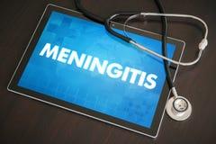 脑膜炎(传染病)诊断医疗概念 免版税库存图片