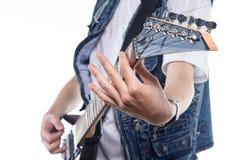 脖子电吉他照片  免版税图库摄影