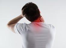 脖子痛 免版税库存照片
