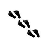 脚印刷品象 免版税库存照片