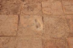 脚印在Chogha Zanbil,伊朗 库存照片