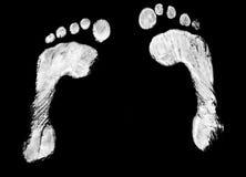脚印对 免版税图库摄影