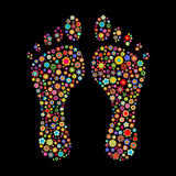 脚印形状 免版税图库摄影