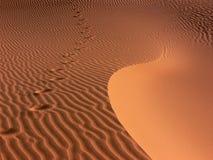 脚印模式沙子 免版税图库摄影