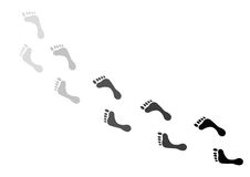 脚印 免版税库存图片