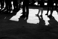 脚商人黑白照片  免版税图库摄影