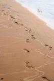 脚步沙子 免版税库存图片
