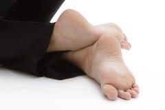 脚的位置在瑜伽 库存照片