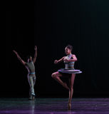 脚趾古典芭蕾` Austen汇集`的自转 库存照片
