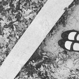 脚趾和纹理 免版税库存图片