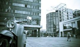 脚踏车都市广场的端 库存照片