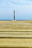 脚洗在海滩 库存图片