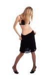 脱下衣服模型性感的内衣 免版税库存照片