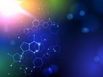 脱氧核糖核酸传染媒介医疗背景 免版税库存图片