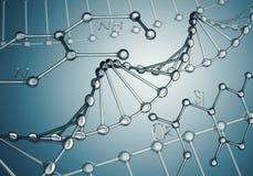 脱氧核糖核酸分子 图库摄影