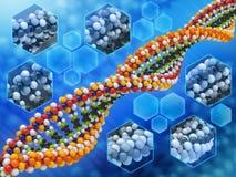 脱氧核糖核酸分析概念 库存图片