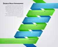 脱氧核糖核酸双重螺旋Infographic 免版税库存照片