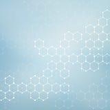 脱氧核糖核酸和神经元结构分子  抽象背景 医学,科学,技术 向量例证