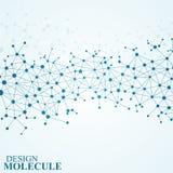 脱氧核糖核酸和神经元结构分子  抽象背景 皇族释放例证