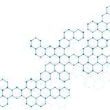 脱氧核糖核酸和神经元结构分子  抽象背景 库存例证
