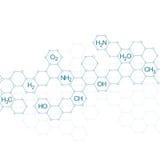 脱氧核糖核酸和神经元结构分子  库存例证