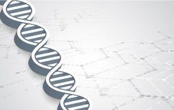 脱氧核糖核酸和医疗和技术背景 未来派分子 免版税图库摄影