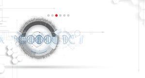 脱氧核糖核酸摘要象和元素汇集 未来派技术 库存例证
